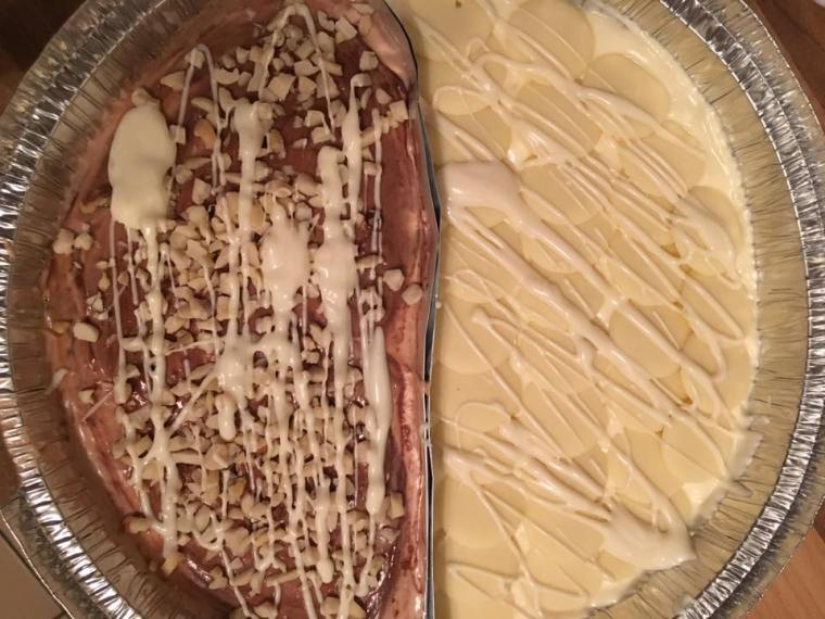 Half Nutella Half White Chocolate Death By Cheesecake