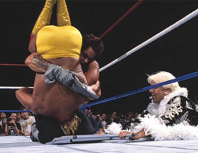 Flair assists The Undertaker