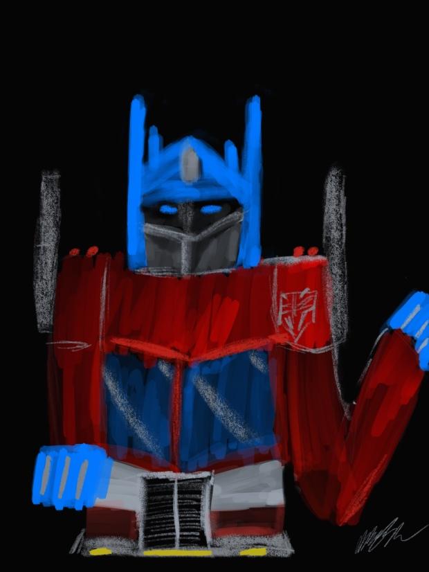Optimus Prime Drawn On IPad